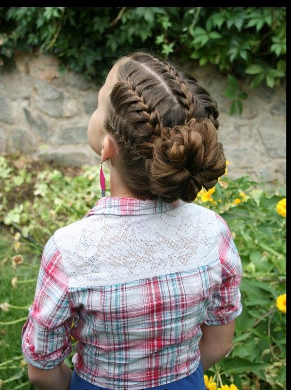 Best ideas about Bun Hairstyles For Kids . Save or Pin 14 Lovely Braided Hairstyles for Kids Pretty Designs Now.