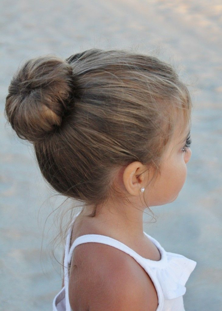 Best ideas about Bun Hairstyles For Kids . Save or Pin 38 Super Cute Little Girl Hairstyles for Wedding Now.