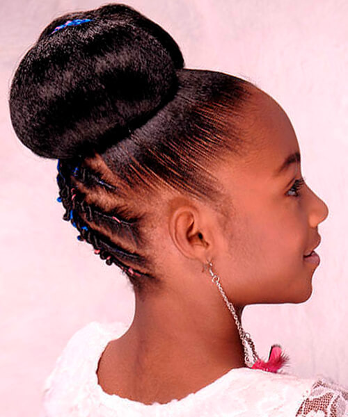 Best ideas about Bun Hairstyles For Kids . Save or Pin Natural hairstyles for African American women and girls Now.