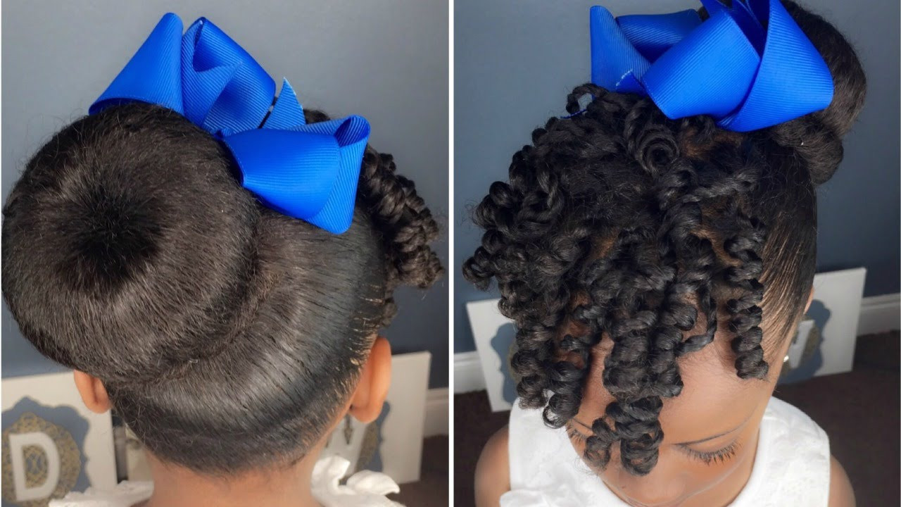 Best ideas about Bun Hairstyles For Kids . Save or Pin Sock Bun & Curls Tutorial Now.