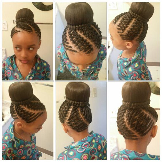 Best ideas about Bun Hairstyles For Kids . Save or Pin Kids hairstyle bun braids creative done by me Tracy Now.