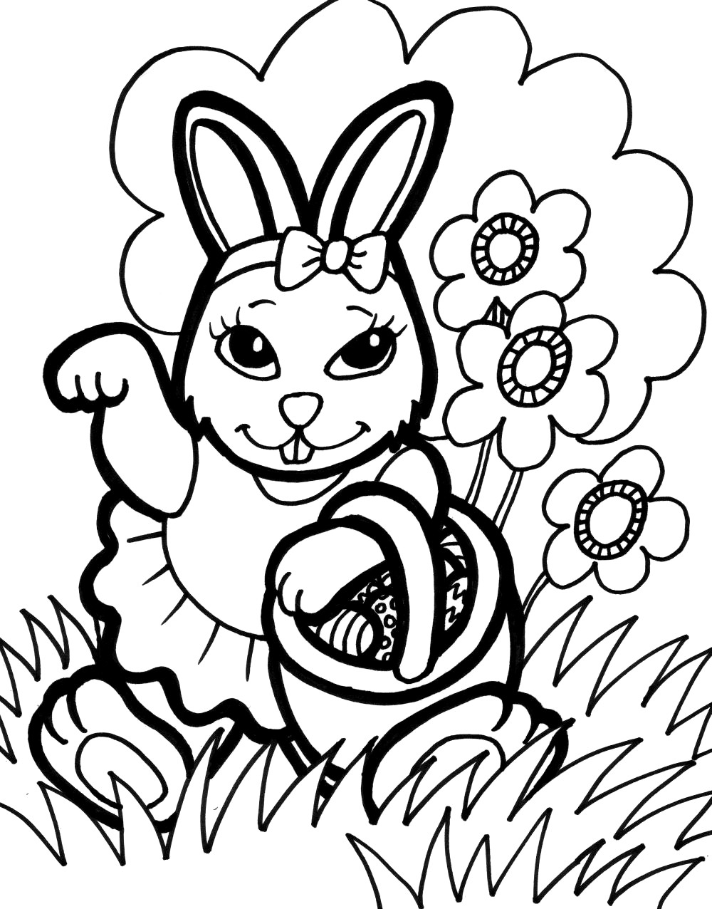 Bunnies Coloring Pages  Bunny Coloring Pages Best Coloring Pages For Kids