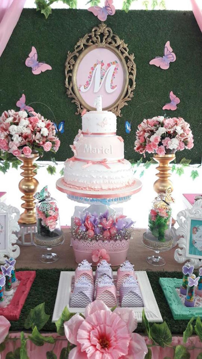 Best ideas about Butterfly Birthday Decorations . Save or Pin Kara s Party Ideas Beautiful Butterfly Birthday Party Now.