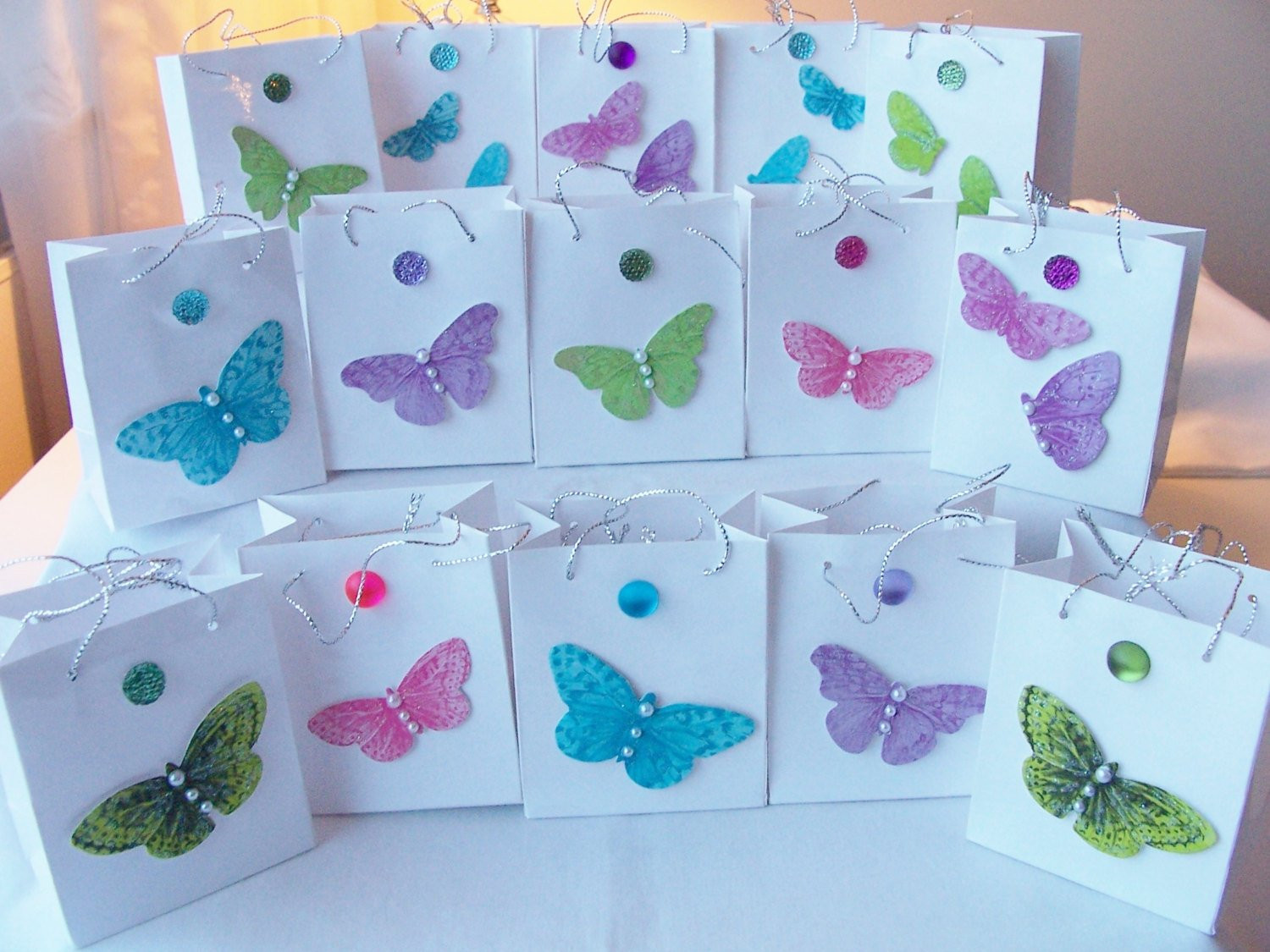 Best ideas about Butterfly Birthday Decorations . Save or Pin 15 Butterfly jewel party favours birthday favours table Now.