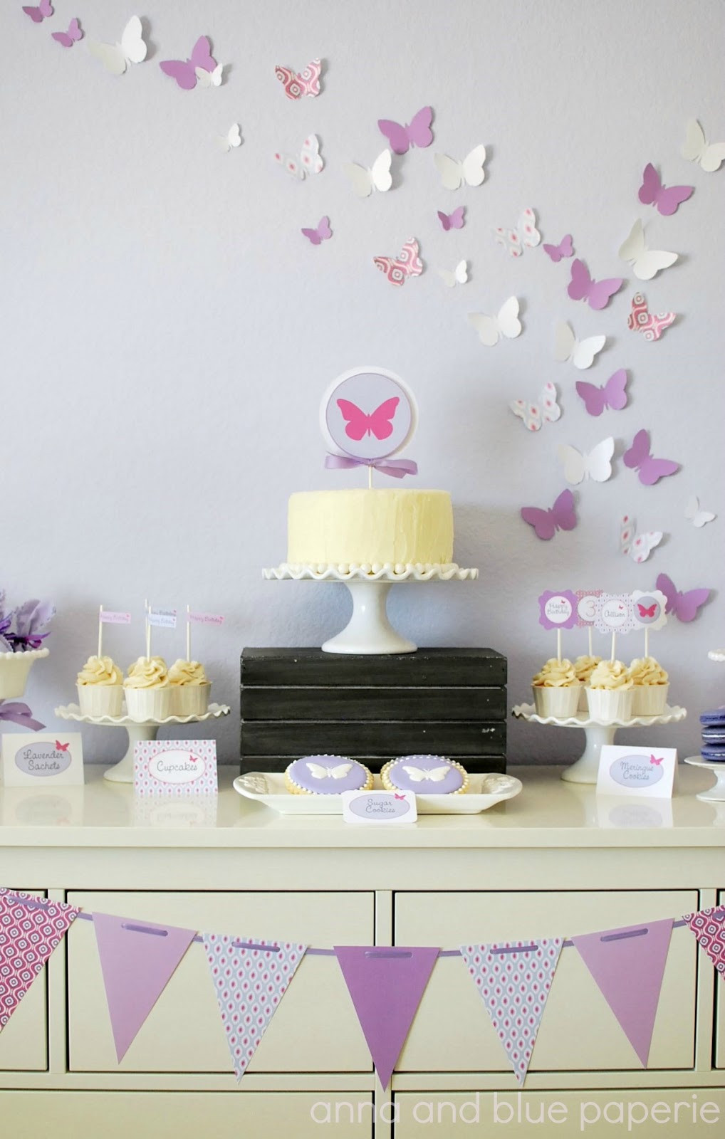 Best ideas about Butterfly Birthday Decorations . Save or Pin anna and blue paperie New to the Shop Butterfly Party Now.