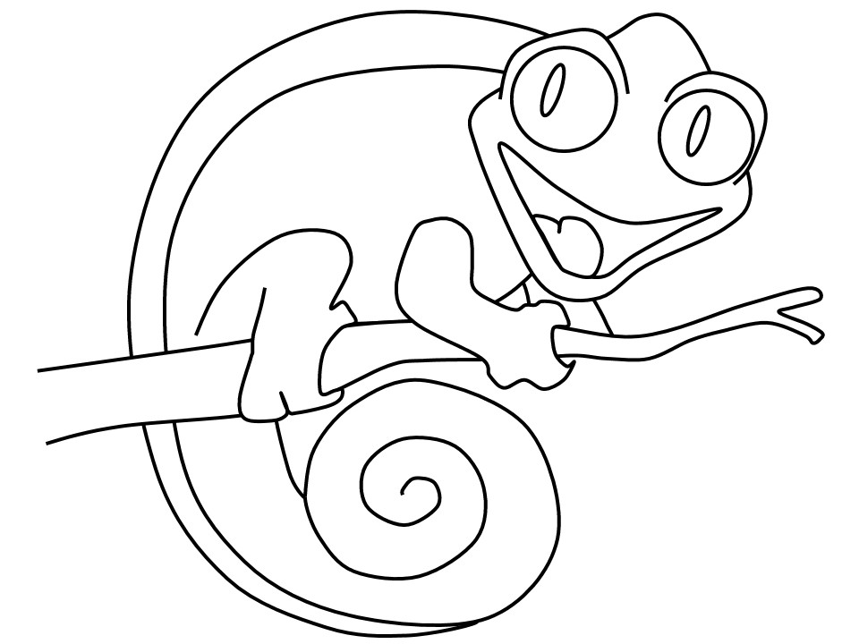 20 Of the Best Ideas for Cameleon Coloring Pages - Best ...
