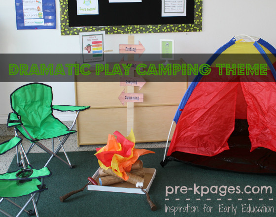 Camping Crafts For Preschoolers  Camping Dramatic Play Theme