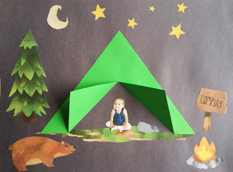 Camping Crafts For Preschoolers  Gone Camping Craft