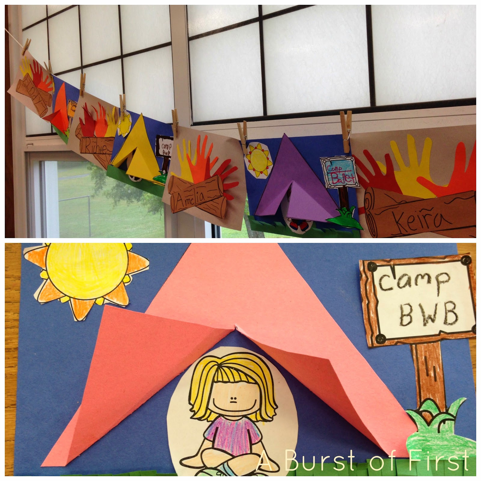 Camping Crafts For Preschoolers  A Camping We Will Go A Burst of First