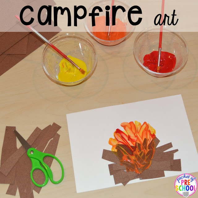 Camping Crafts For Preschoolers  Camping Centers and Activities Pocket of Preschool