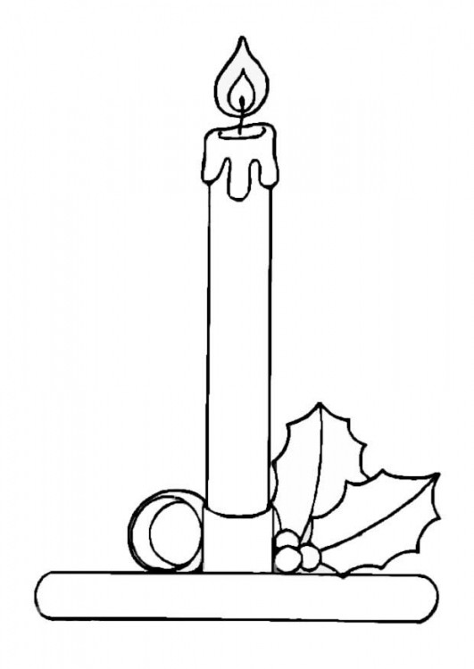 Candle Coloring Pages  Coloring Pages Beautiful Candle Holder