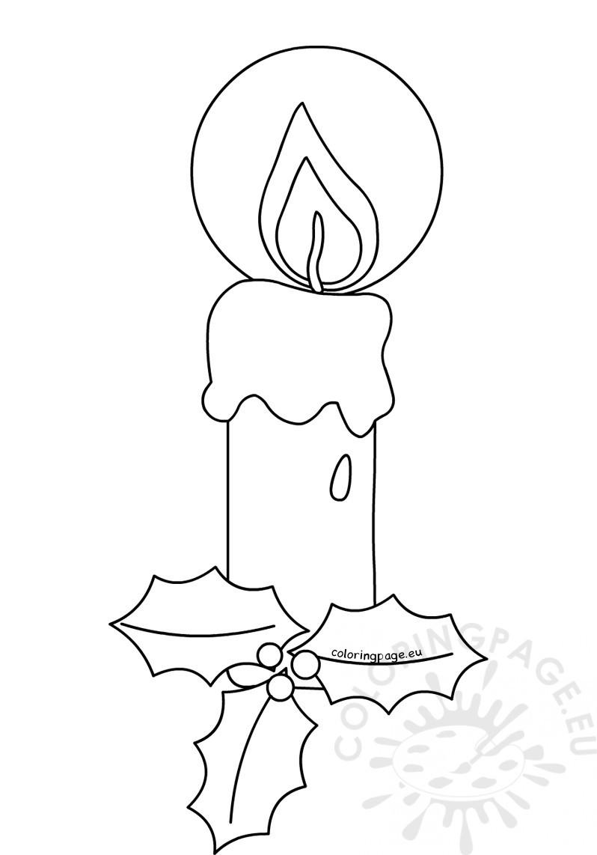 Candle Coloring Pages  Candle Coloring Pages for Christmas