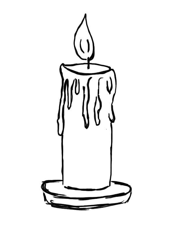 Candle Coloring Pages  Candle Light Candle Coloring Pages Light Candle Coloring