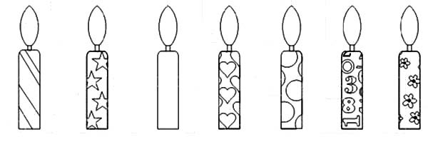 Candle Coloring Pages  Birthday Candle