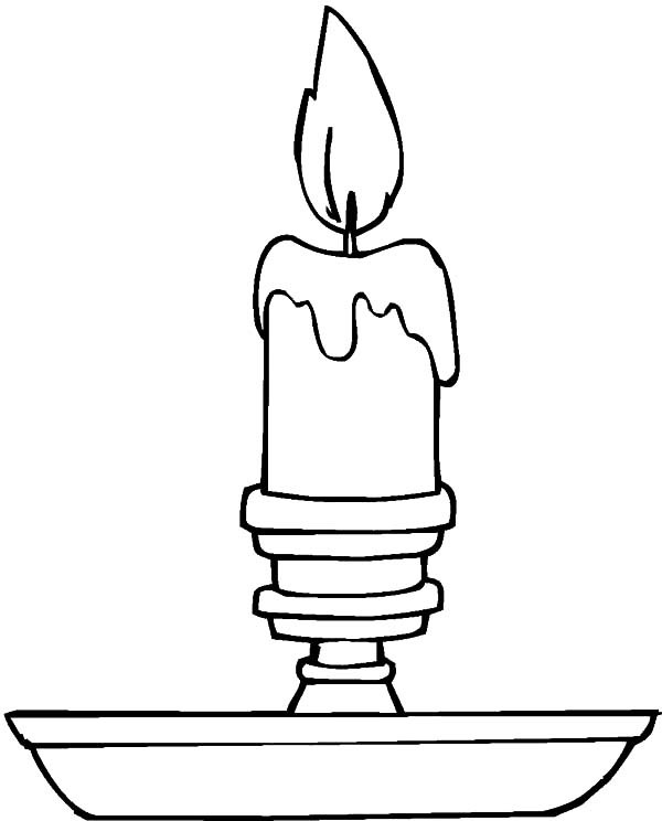 Candle Coloring Pages  Candle Light in Night Coloring Pages