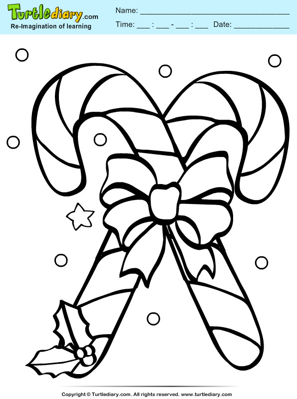 Candy Canes Coloring Pages  Christmas Candy Canes Free Colouring Pages