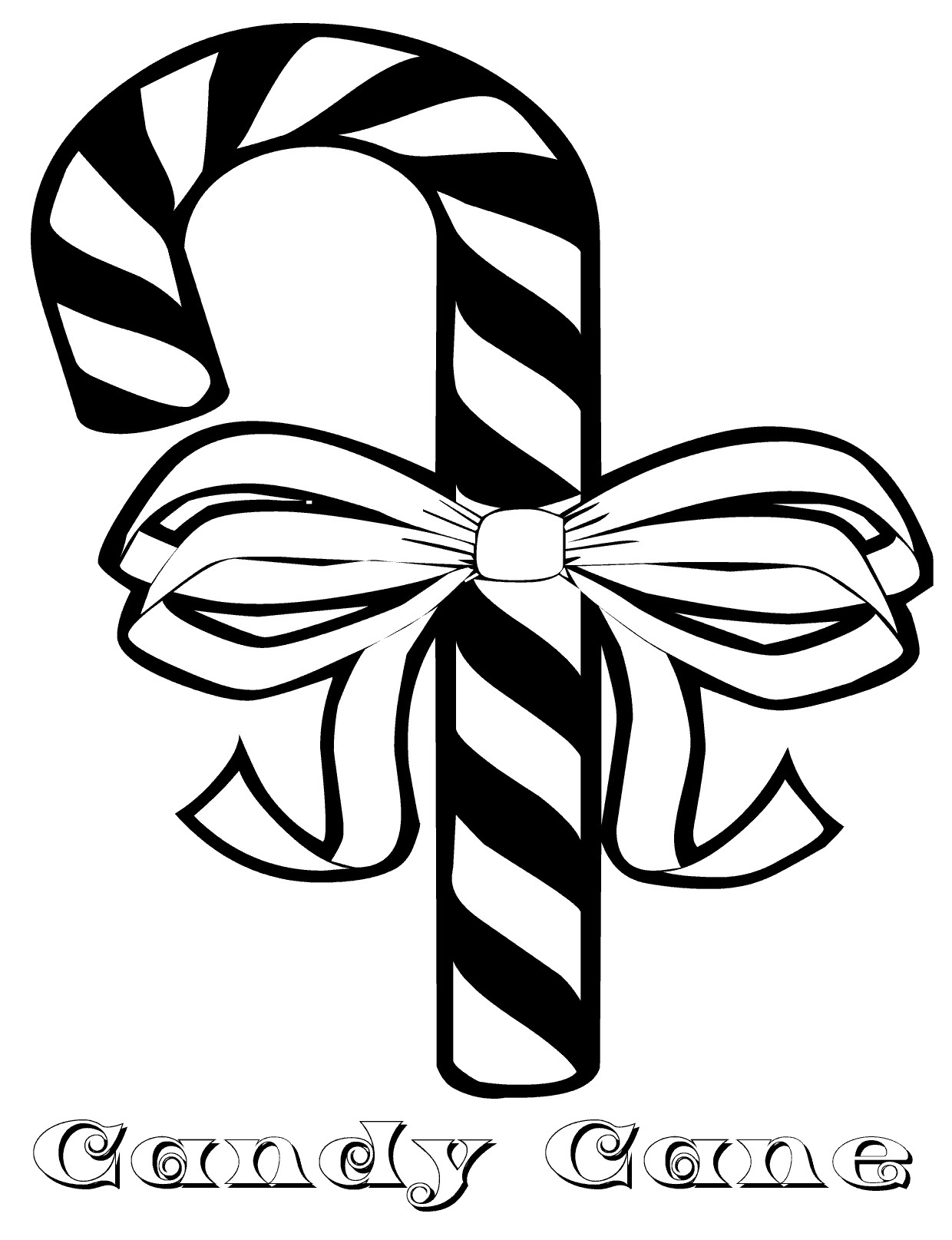 Candy Canes Coloring Pages  Free Printable Candy Cane Coloring Pages For Kids