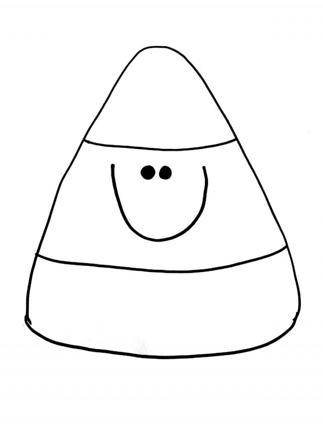 Candy Corn Coloring Pages  Candy Corn Clipart Black And White