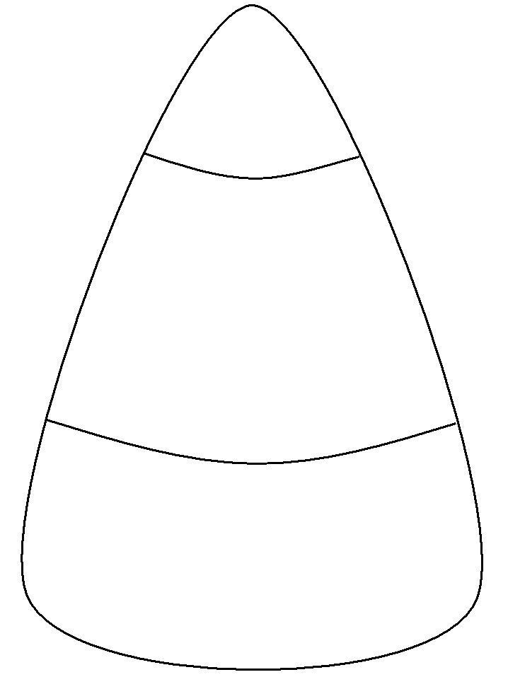 Candy Corn Coloring Pages  Candy Corn Template Holiday Seasonal Art