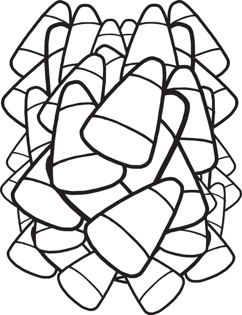 Candy Corn Coloring Pages  FREE Printable Candy Corn Coloring Page for Kids – SupplyMe
