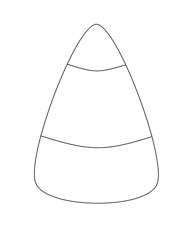 Candy Corn Coloring Pages  White Candy And Black Clipart Clipart Suggest