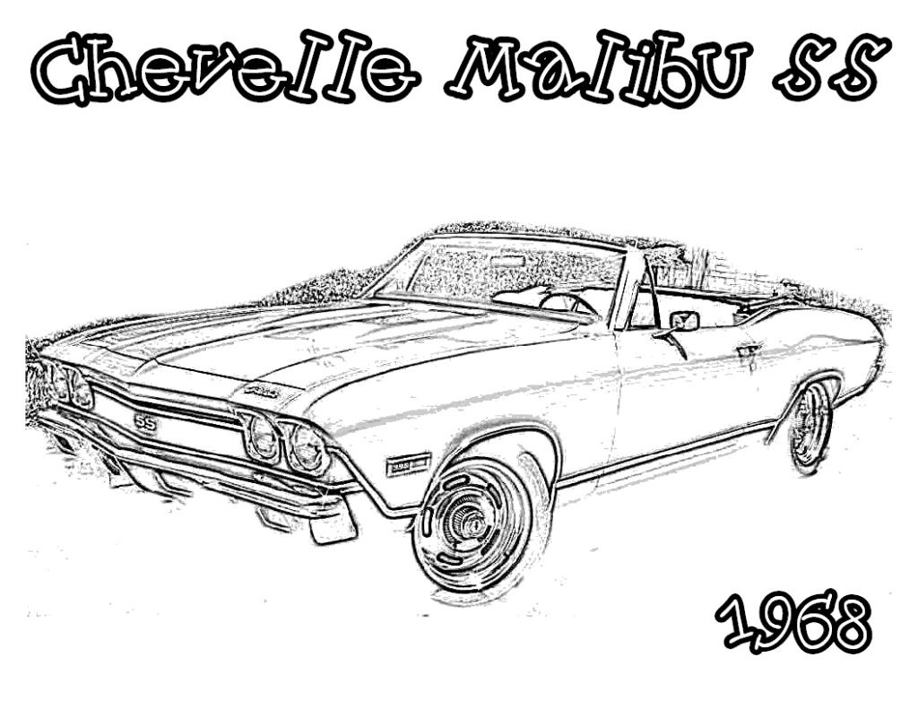 Car Coloring Books For Adults  detailed line drawings muscle cars Google Search Adult