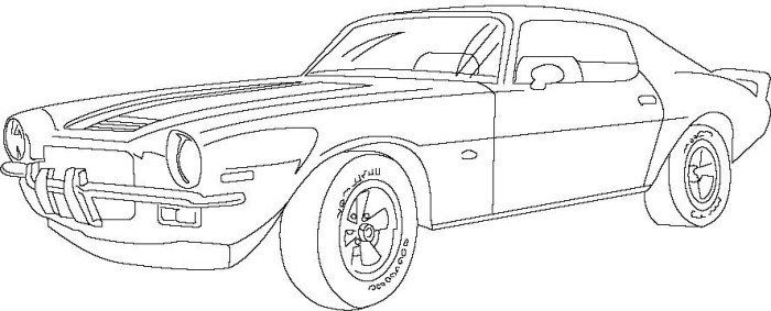 Car Coloring Books For Adults  Classic Car Coloring Pages The Old and Muscle Car