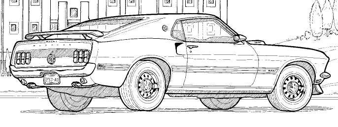 Car Coloring Books For Adults  detailed line drawings muscle cars Google Search