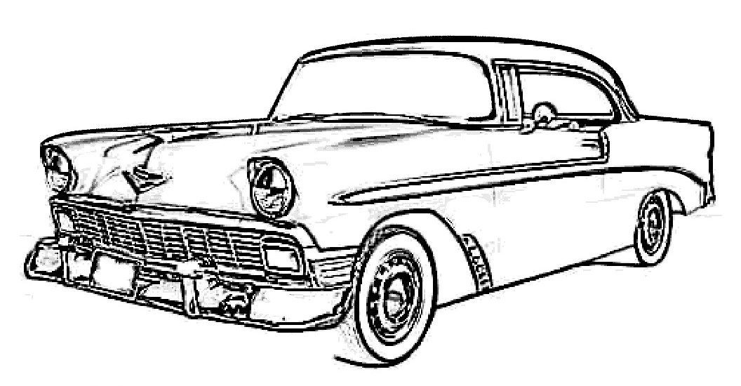 Car Coloring Books For Adults  car printable coloring pages 07