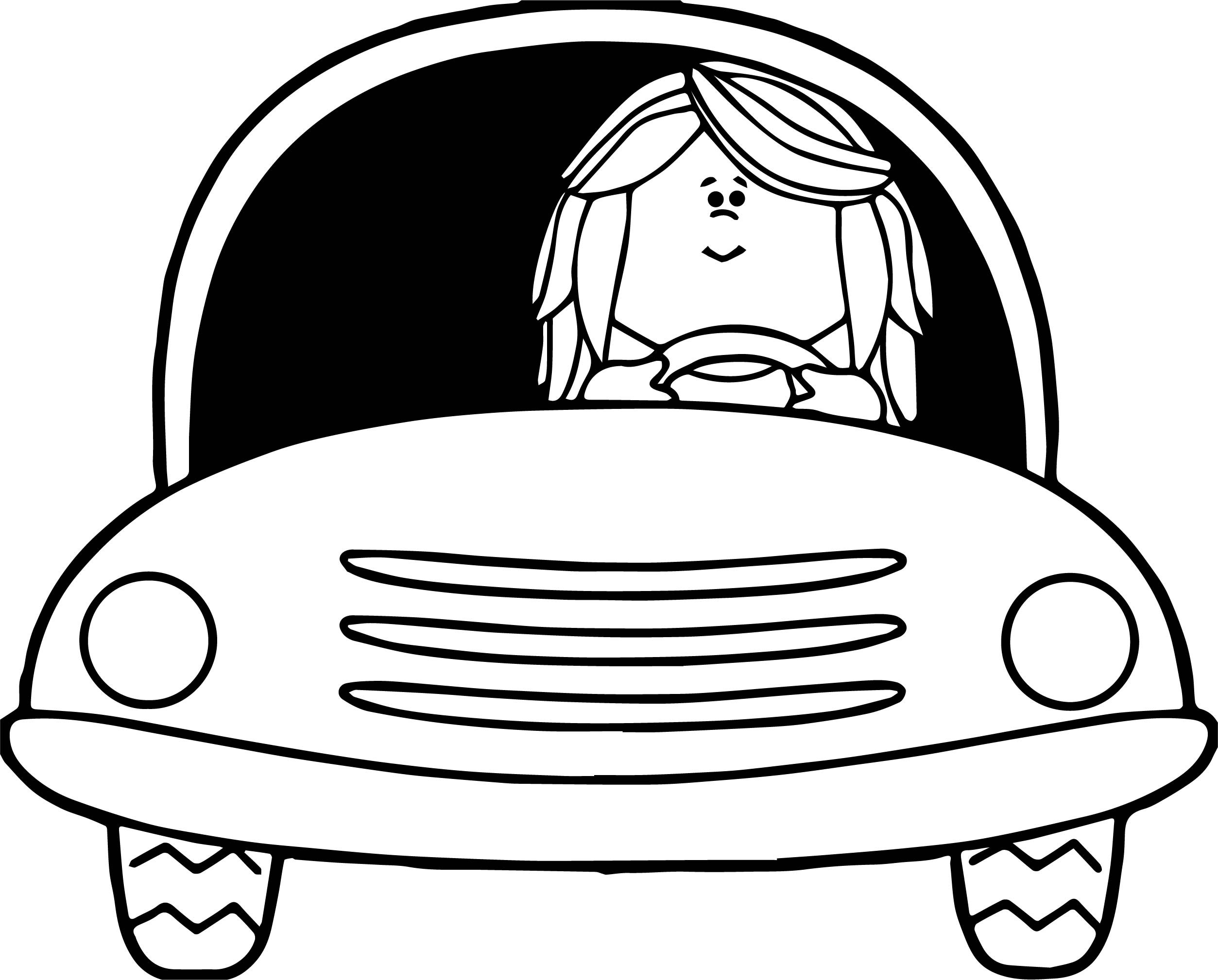 Best ideas about Car Coloring Pages For Girls . Save or Pin Girl Driving Car Coloring Page Now.