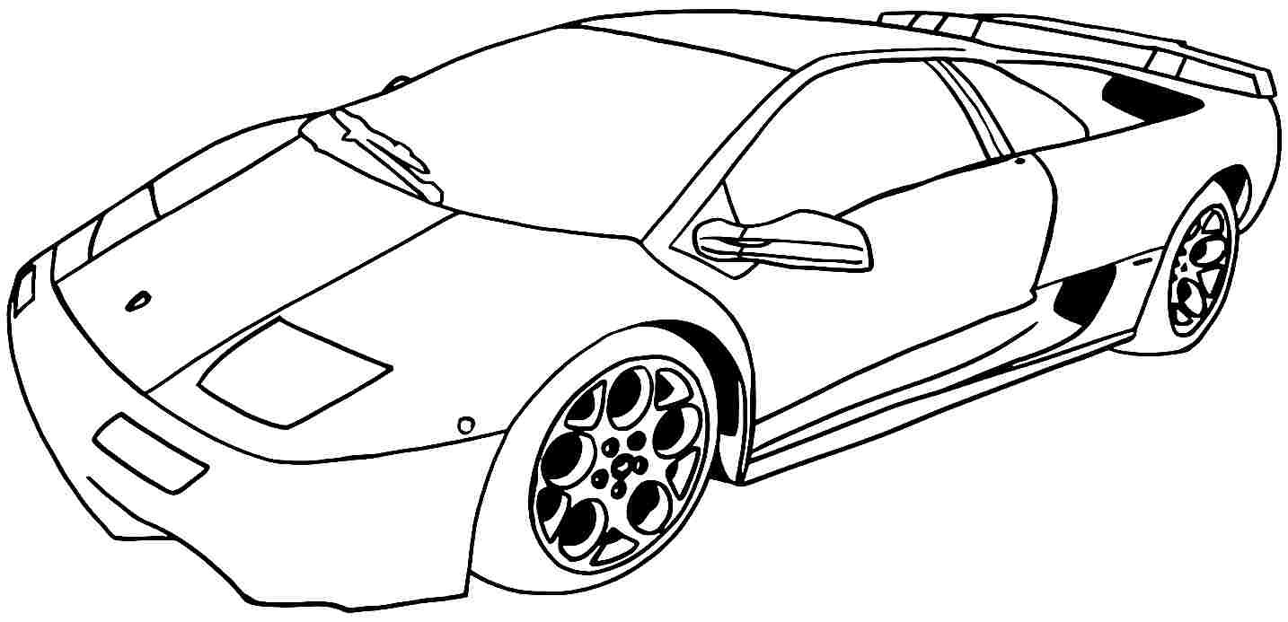Car Coloring Pages For Kids  Coloring Pages For Kids Sport Cars Coloring Pages Coloring
