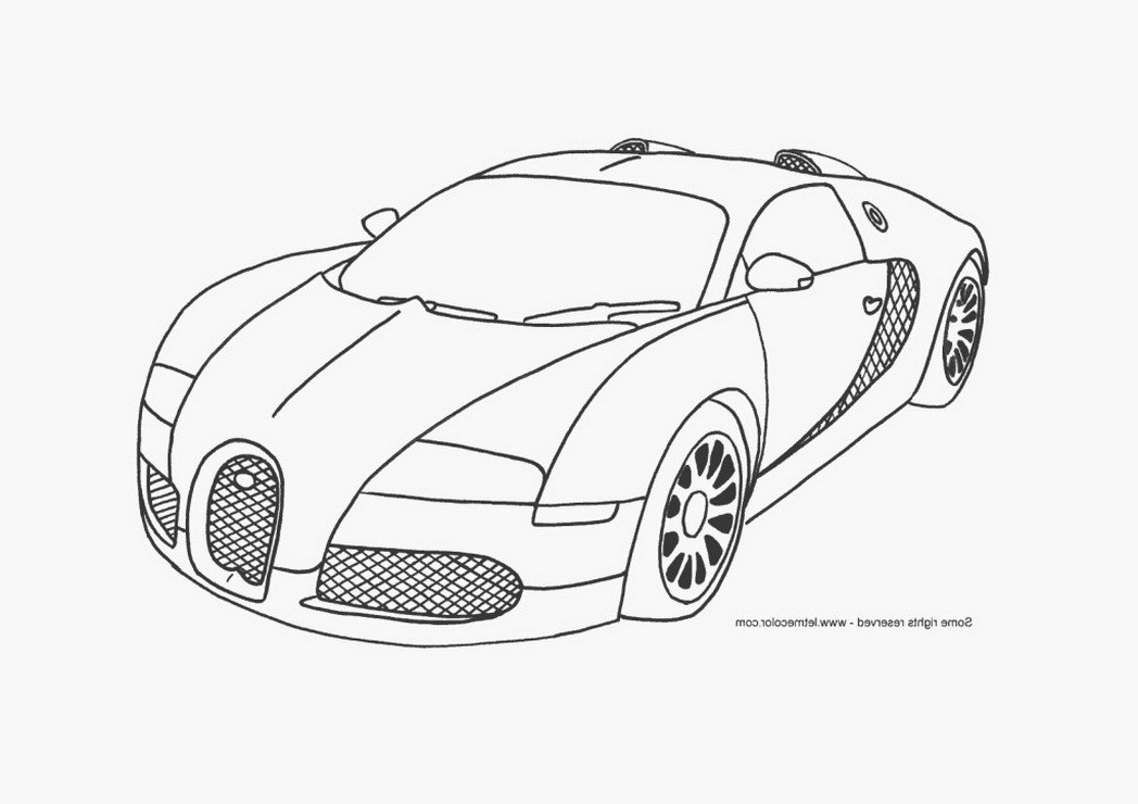 Car Coloring Sheets For Boys  cool car coloring pages for boys bugatti veyron page
