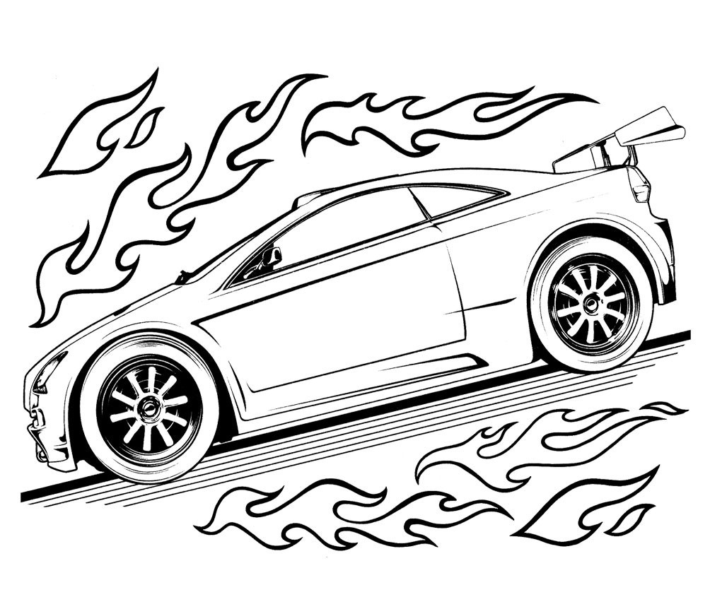 Car Coloring Sheets For Boys  Free Printable Hot Wheels Coloring Pages For Kids