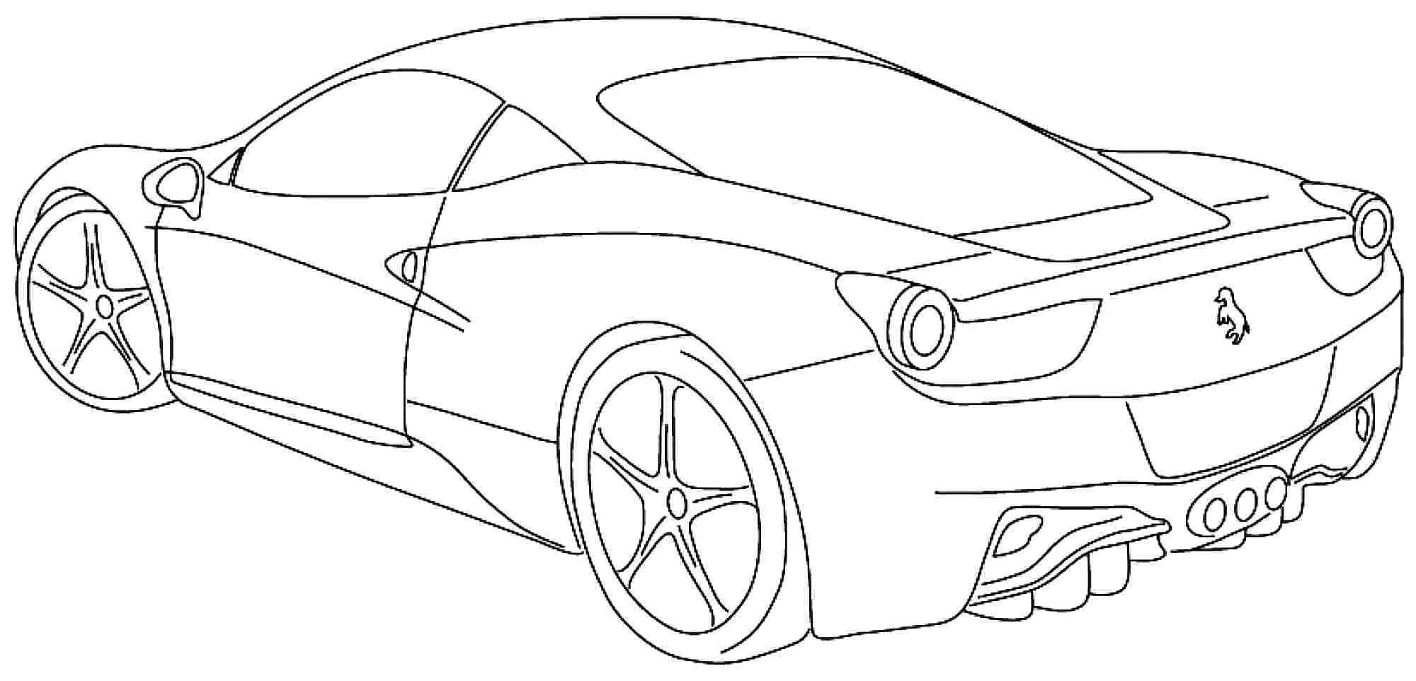 Car Coloring Sheets For Boys  Sports Cars Coloring Pages For Boys – Color Bros