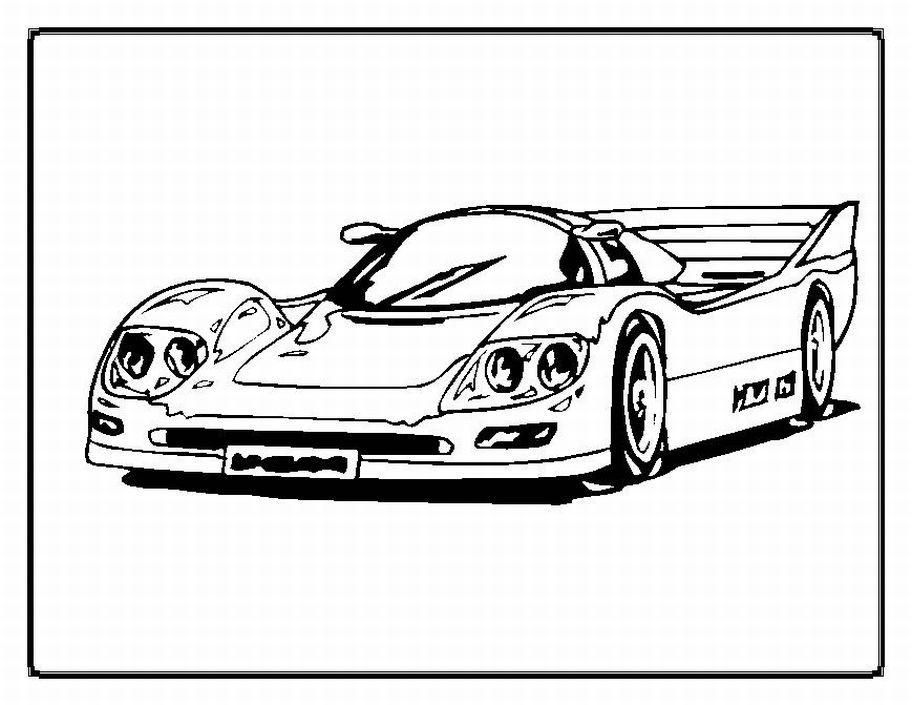 Car Printable Coloring Pages  Free Printable Race Car Coloring Pages For Kids