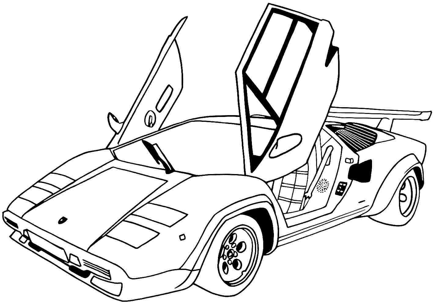 Car Printable Coloring Pages  Free Printable Coloring Pages Sports Cars 99 Colors Info