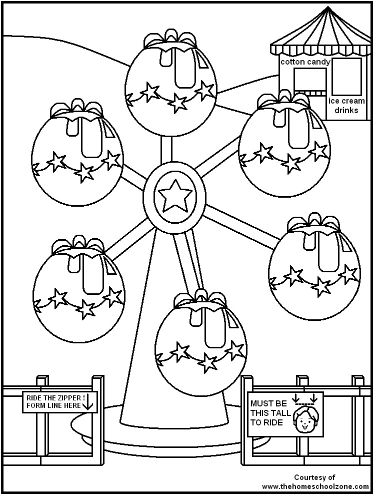 Carnival Coloring Sheets For Kids  Carnival Coloring Page Bestofcoloring