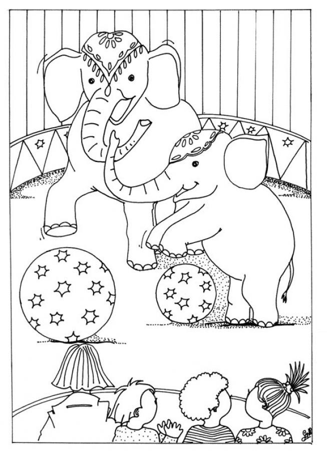 Carnival Coloring Sheets For Kids  Free Printable Circus Coloring Pages For Kids