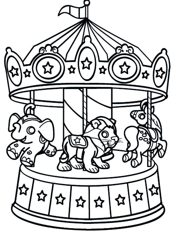 Carnival Coloring Sheets For Kids  Carnival Playing Bumper Cars Coloring Pages