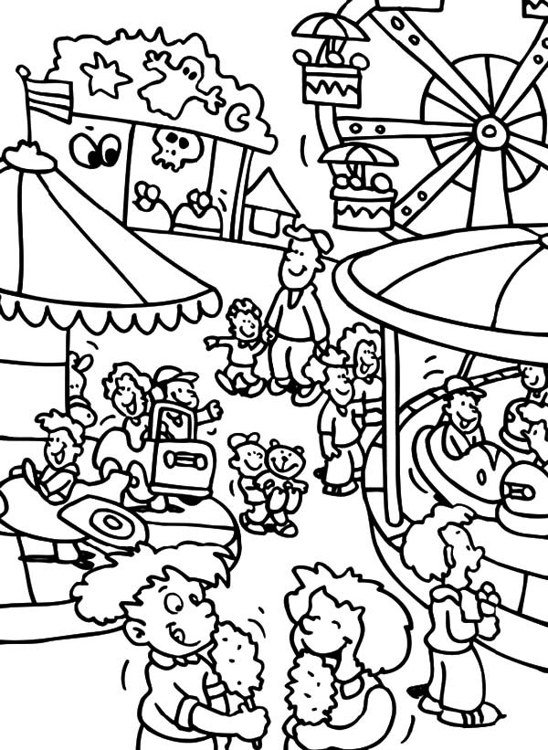 Carnival Coloring Sheets For Kids  Free coloring pages of carnival