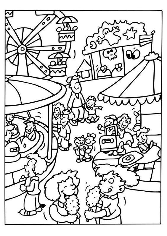 Carnival Coloring Sheets For Kids  carnivals for kids