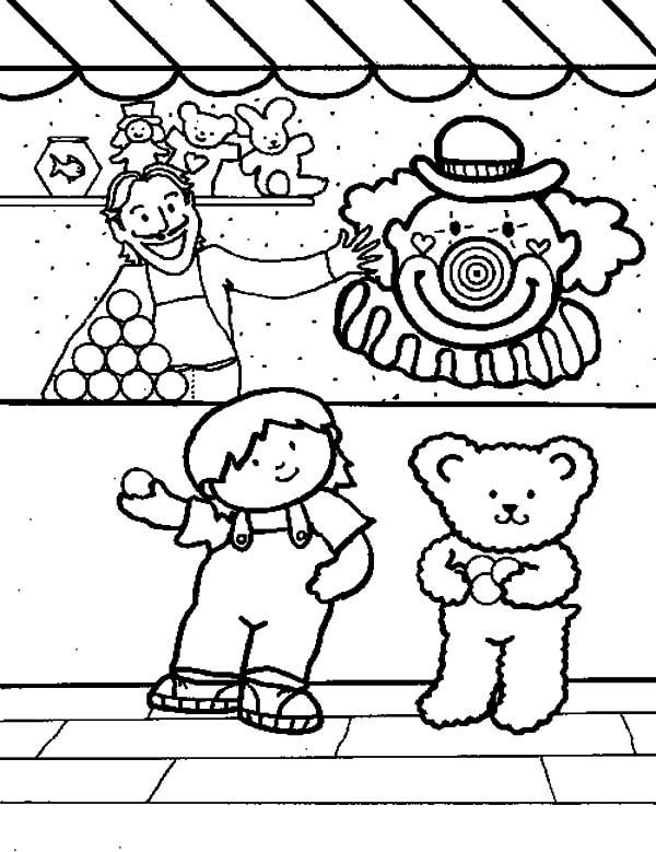 Carnival Coloring Sheets For Kids  Carnival Activity Coloring Pages Carnival Activity