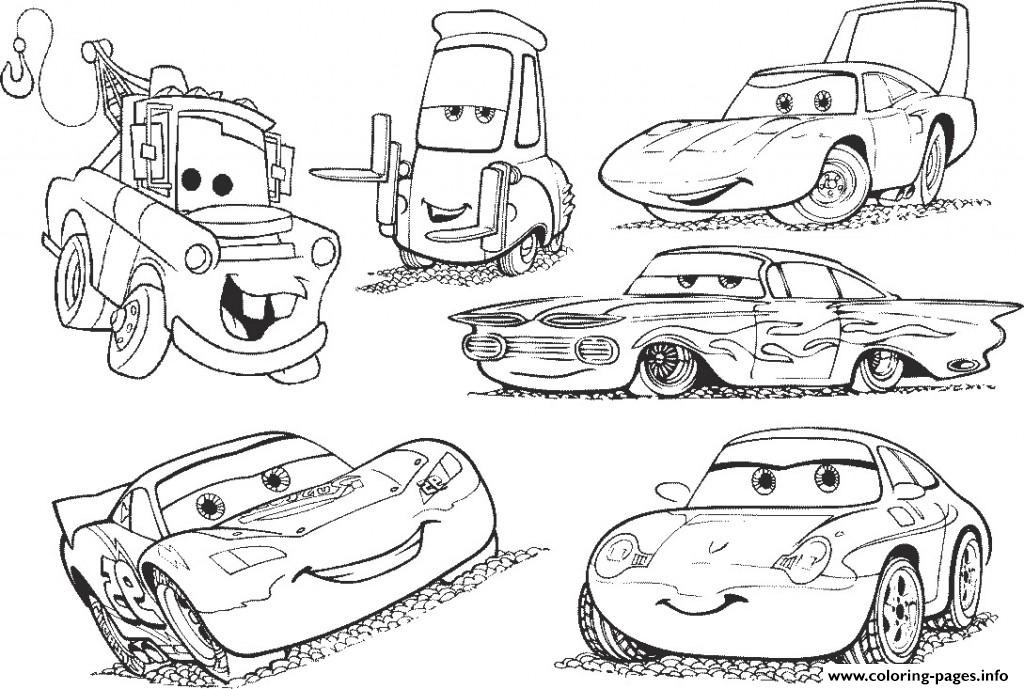 Cars 2 Free Coloring Pages  Disney Cars 2 Lightning Mcqueen Movie Coloring Pages Printable