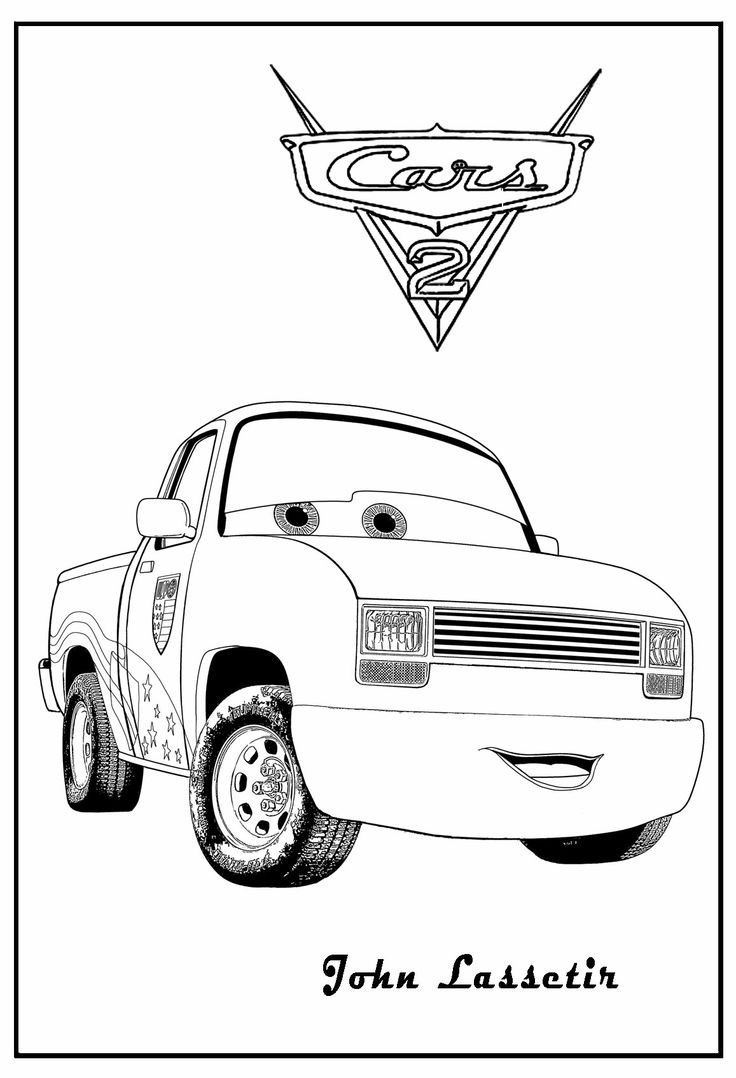 Cars 2 Free Coloring Pages  free printable coloring pages cars 2 free printable color
