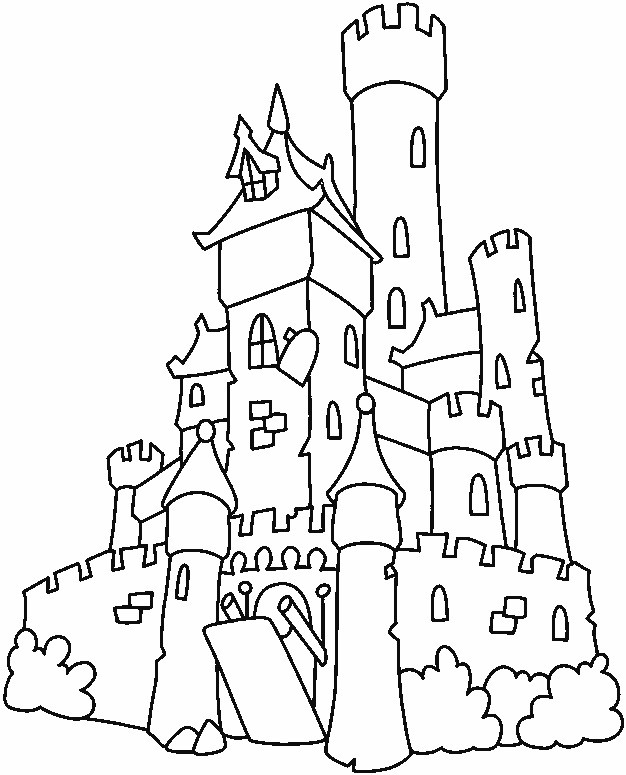Castle Coloring Pages For Kids  Free Printable Castle Coloring Pages For Kids