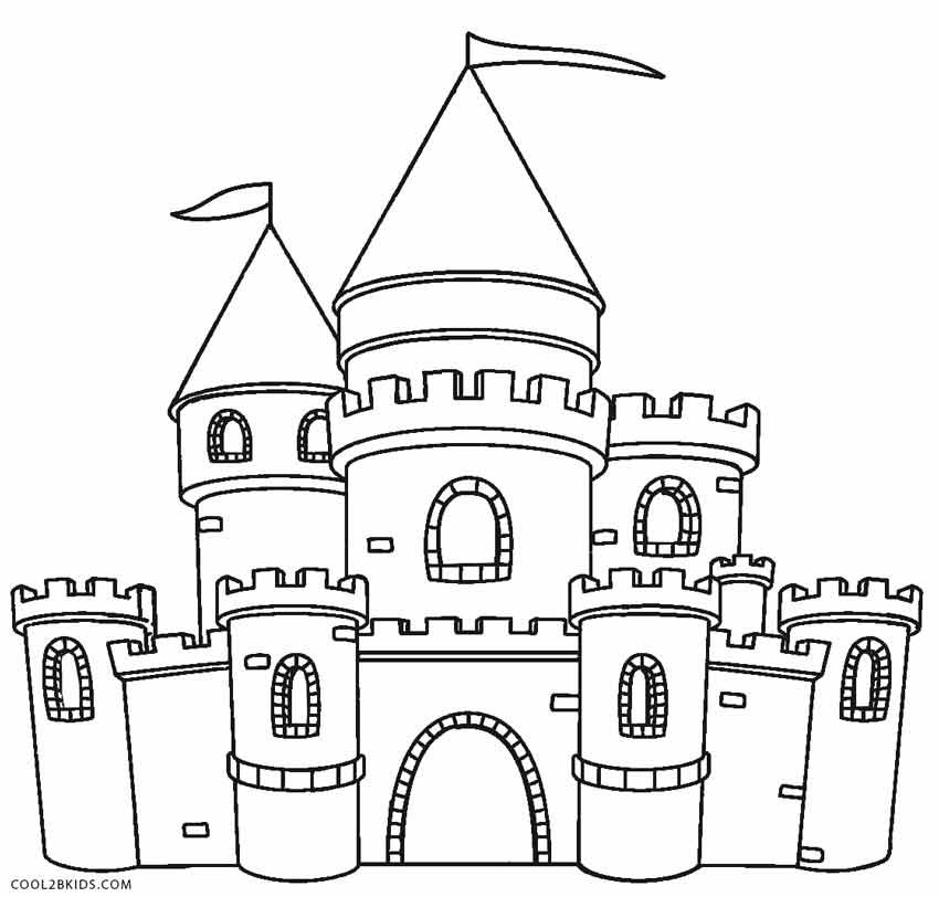 Castle Coloring Pages For Kids  Printable Castle Coloring Pages For Kids