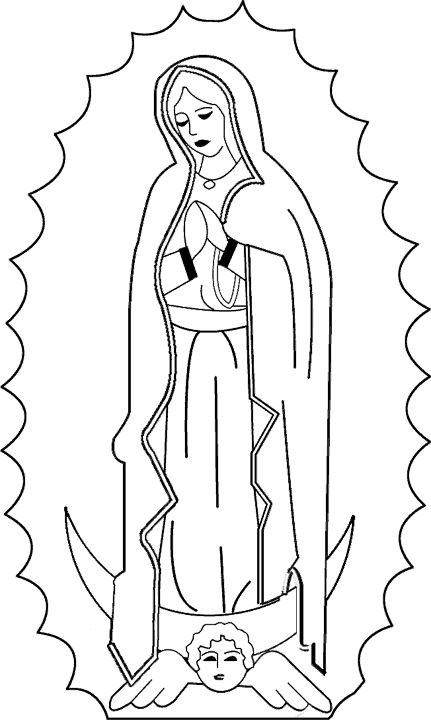 Catholic Coloring Books  Catholic coloring page of Our Lady of Guadalupe