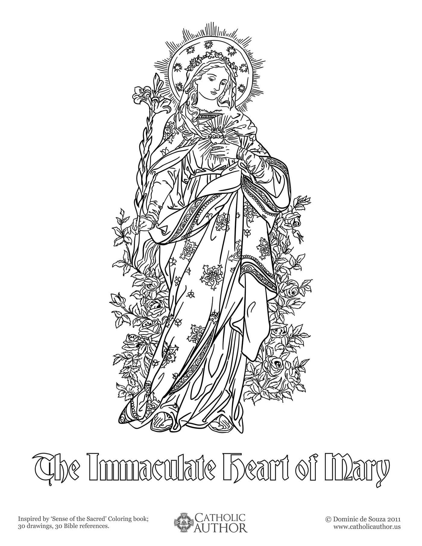 Catholic Coloring Books  12 Free Hand Drawn Catholic Coloring CatholicViral