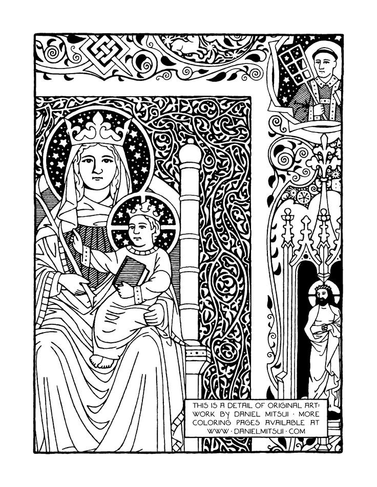 Catholic Coloring Books  45 best images about Catholic Coloring Pages on Pinterest