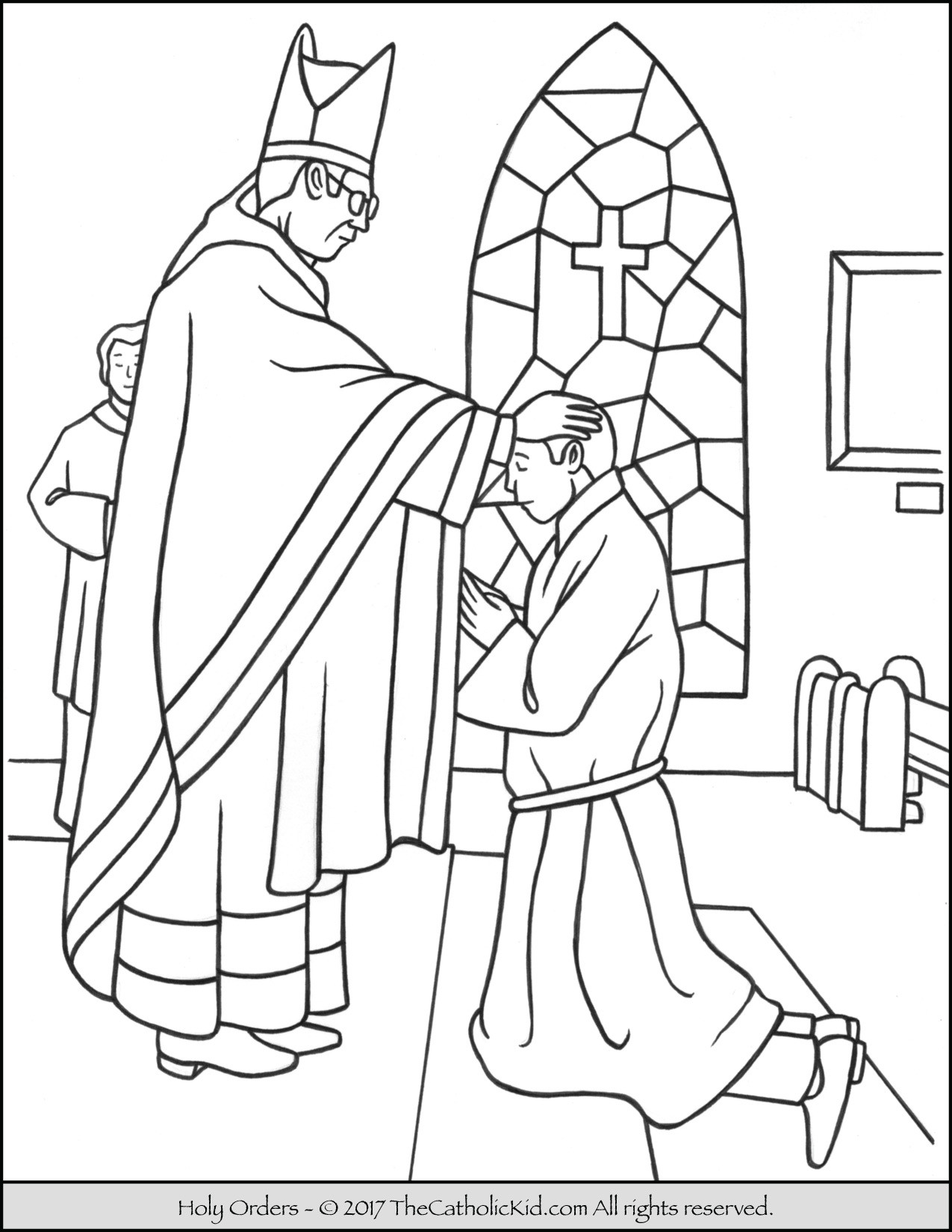 Catholic Coloring Books  Sacrament of Holy Orders Coloring Page TheCatholicKid